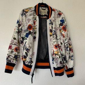 Rachel Roy floral bomber jacket